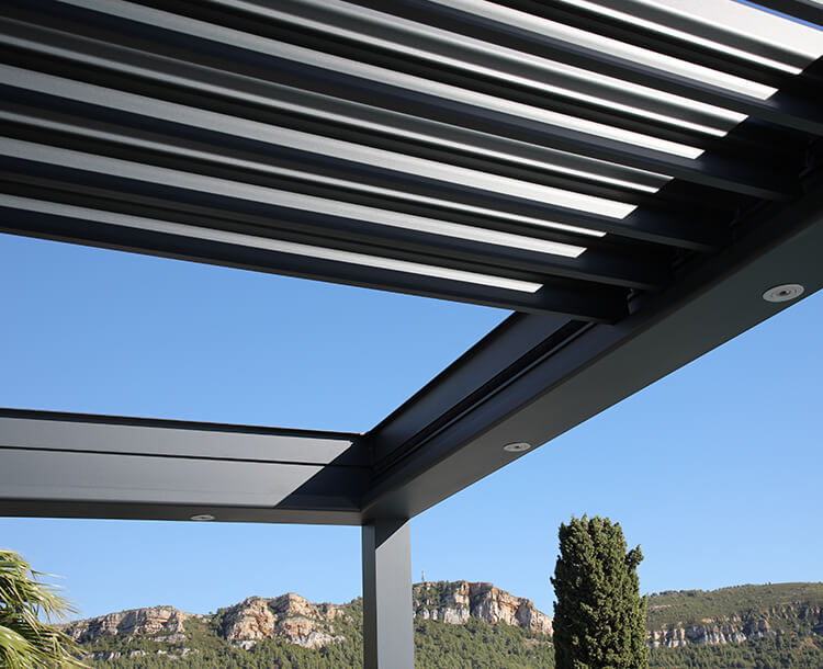 pergola aluminium rétractable - e-MOTION